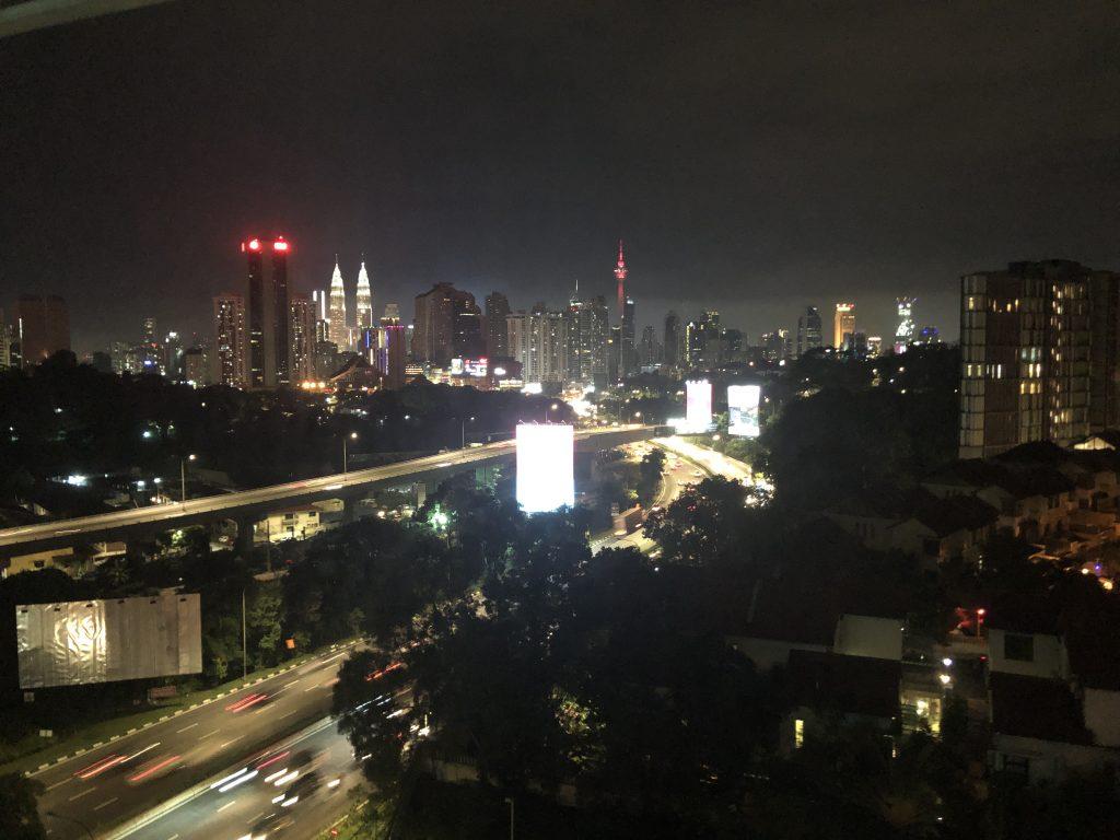 Nighttime View of Downtown Kuala Lumpur