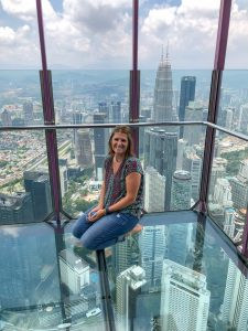 Glass Bottom Box at the KL Tower Sky Deck
